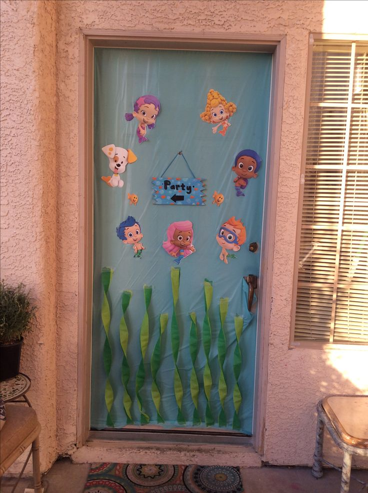 Bubble guppies Birthday Party front door decoration. 17 Best ideas about Bubble Guppies Decorations on Pinterest