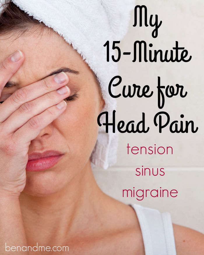 I've suffered with headaches most of my life -- tension, sinus, migraines. I hate taking medications, so I love that I am now finding relief with this simple method.