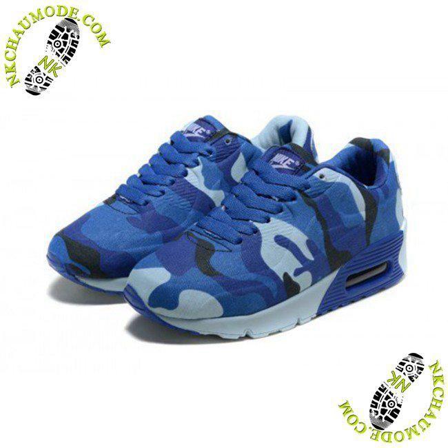 chaussure nike air max solde 90 Enfant Camouflage Bleu