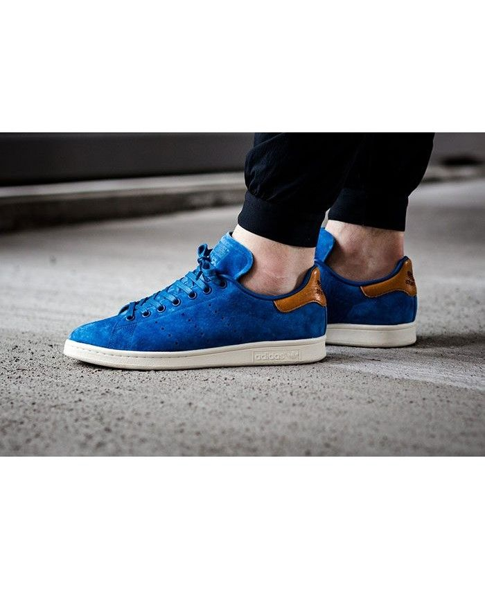 stan smith blue gold