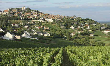 The town of Sancerre, a grand medieval hill town with a rich winemaking heritage. All photographs: John Brunton