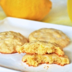 Chewy Lemon Cookies by passthecocoa