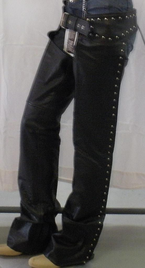 7155 Ladies Studded Leather Riding Chaps by AntelopeCreekLeather on Etsy