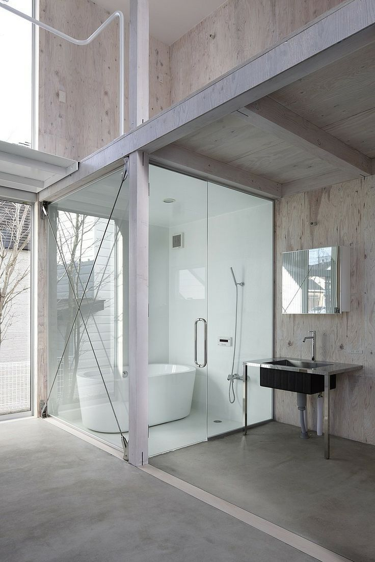 I love this bathroom!! Very modern and simple.
