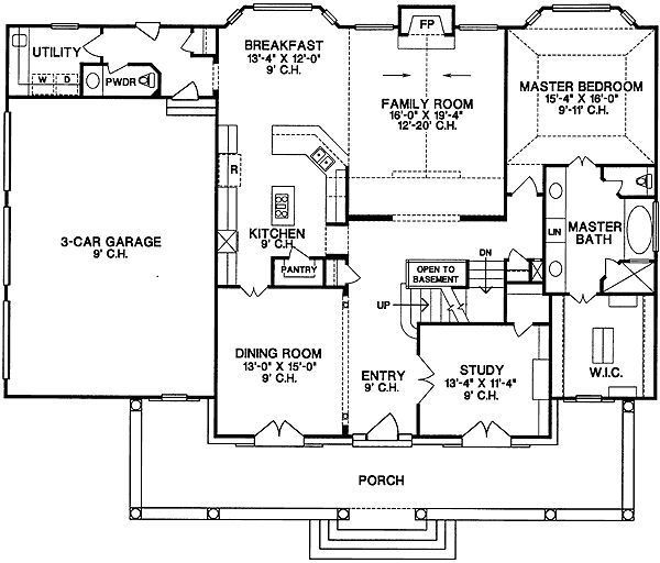 Plan 4031db for discriminating tastes country farmhouse for Southern country house plans
