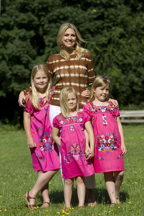 Princess Maxima of the Netherlands and her daughters