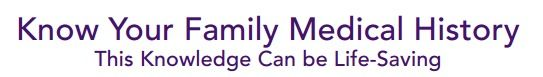 Chart your family medical history