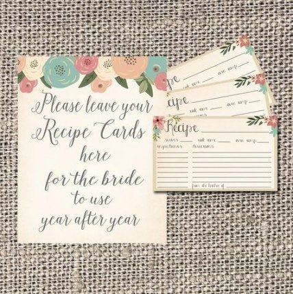 55+ Ideas Wedding Card Matter Bridal Shower For 2019