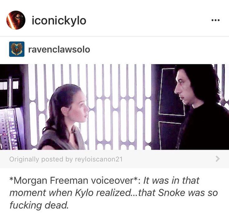 Love it but I think he realized it the second Snoke started hurting Rey