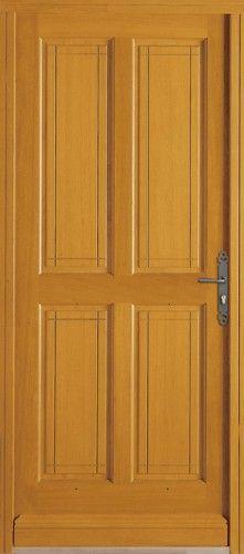 Porte bois, Porte entree, Bel'm, Classique, Poignee plaque rustique, Caches fiches rustique, Sans vitrage, Reunion