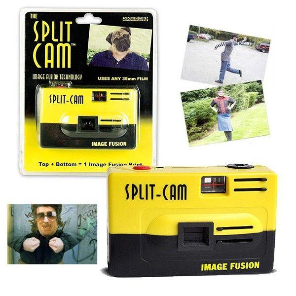 Denne gaveide sørger med garanti for mange smil og sjove øjeblikke: Et SplitCam-kamera sætter to billeder sammen, og således opstår der spøjse og underholdende billeder. En super gave til alle fotofans!