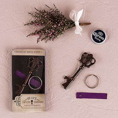 Antique Style Key Bottle Opener in Gift Packaging Wedding Favor