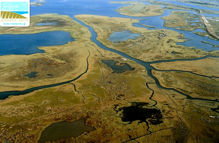 Aerial view of the Evros Delta near #Alexandroupoli #Greece