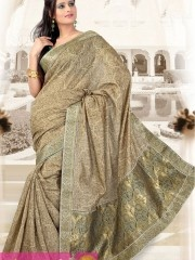 Bandhej sarees:- Eternal bandhej saree in golden zari work pallu and less border part is crafted on faux bandhej with exclusive look pallu bottom having antique Zari,golden zari embroidered floral pallu is reflecting its exclusivity.Glittering all over sequins adding a spark to outfit.  $35.74 matwali.com