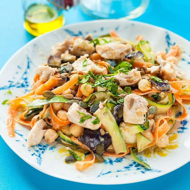 Chicken salad with tahini dressing | Deliciousness | Pinterest