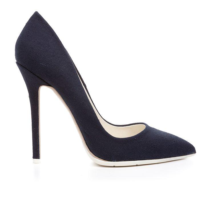Code: 1203A00 Heel height: 12cm www.mourtzi.com #denim #pumps #high_heels #greekfashion