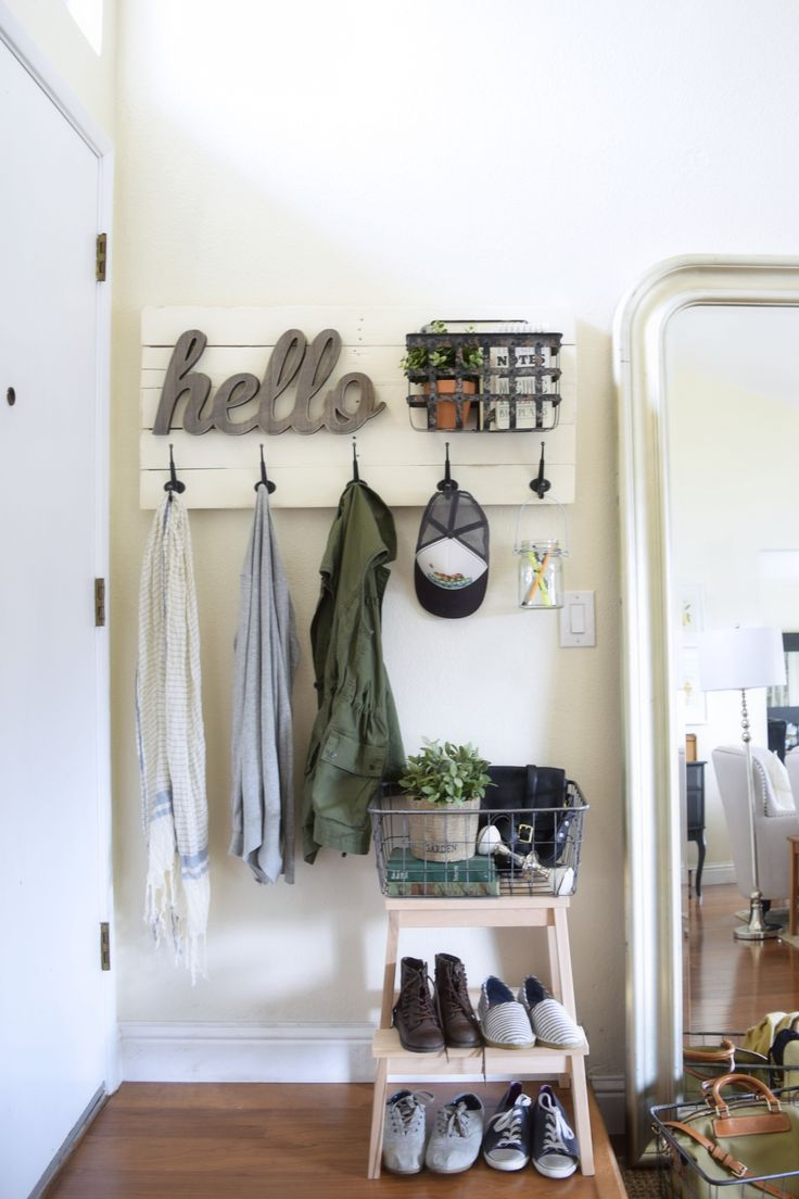 diy coatrack and entryway organization                                                                                                                                                                                 More