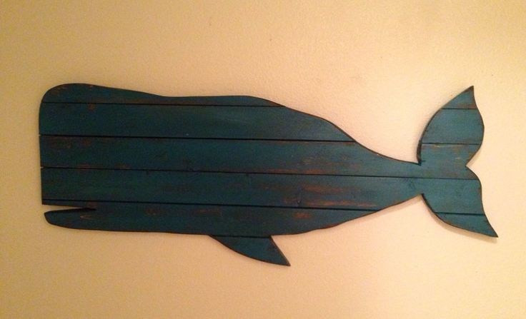 Large Distressed Pallet Whale, whale decor, rustic beach decor, surf decor by NCSustainableStyle on Etsy