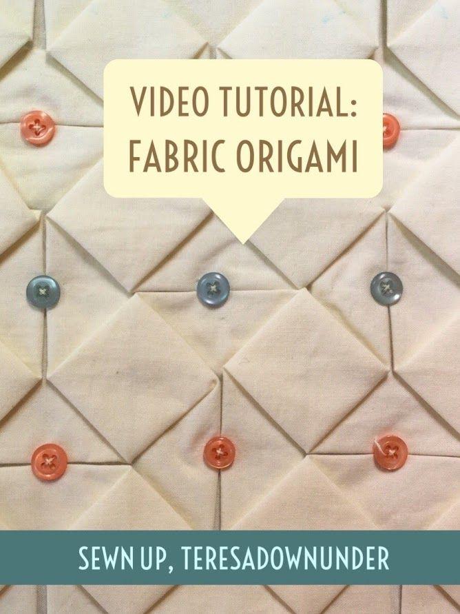 Video tutorial: Fabric origami - fabric manipulation