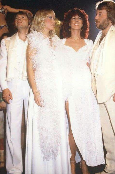 """ABBA """"Happy New Year"""" 1980, when the ladies got their poodle perm"""
