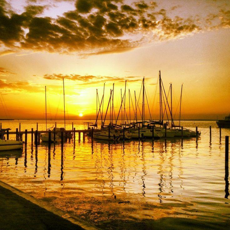 Marina sunset at Lake Balaton