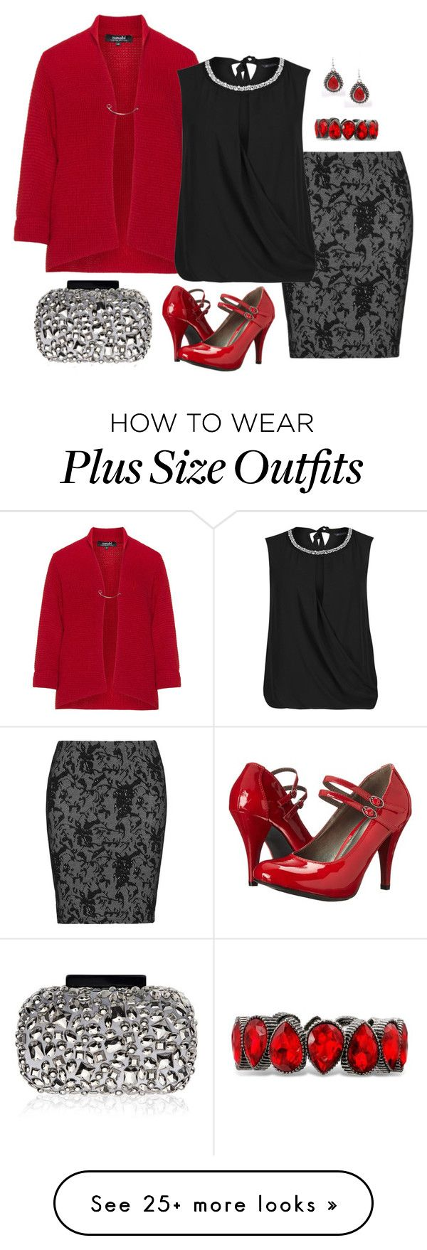 """Plus Size - Office Holiday Party"" by elise1114 on Polyvore featuring navabi, Zhenzi, M&S Collection, Lipsy, Gabriella Rocha and plus size clothing"