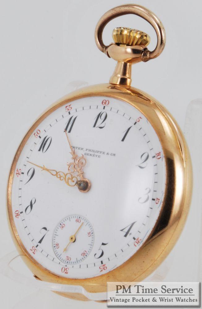 Patek Philippe (for M.Scooler New Orleans) 41mm 16J vintage pocket watch, in an 18k gold case.  On eBay today!