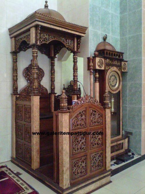 Mimbar Masjid Model Kerata Kaligrafi