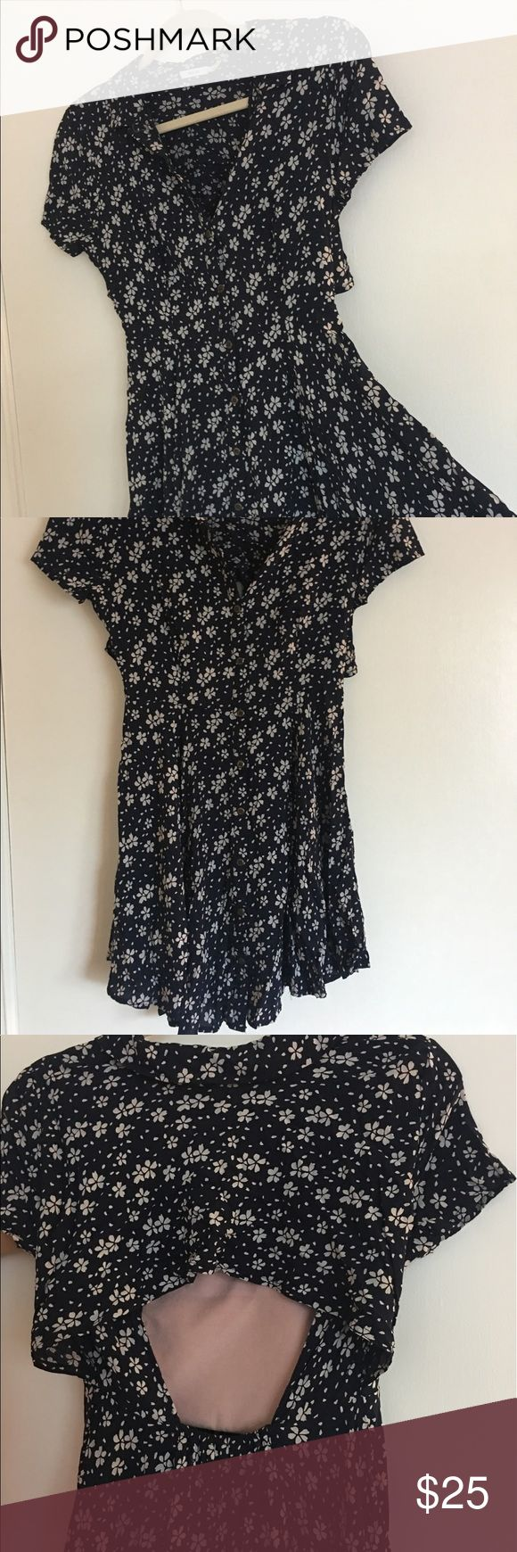 Urban outfitters little button down dress Urban outfitters flowy button down, open back dress. Like new condition, never worn. Ordered online and didn't fit. Waited too long to return. Urban Outfitters Dresses Backless
