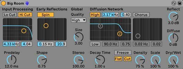 Ableton S Reverb Audio Effect Ableton Audio Ableton Live