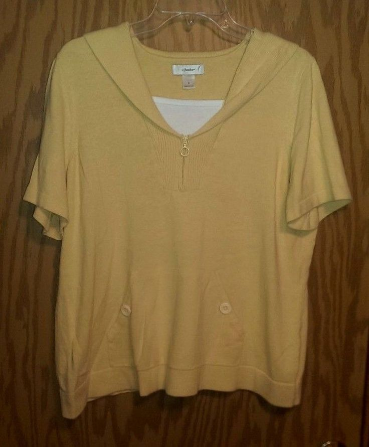 Christopher & Banks Light Yellow Short Sleeve Sailor Collar Sweater Layer~Sz 1X | Clothing, Shoes & Accessories, Women's Clothing, Sweaters | eBay!