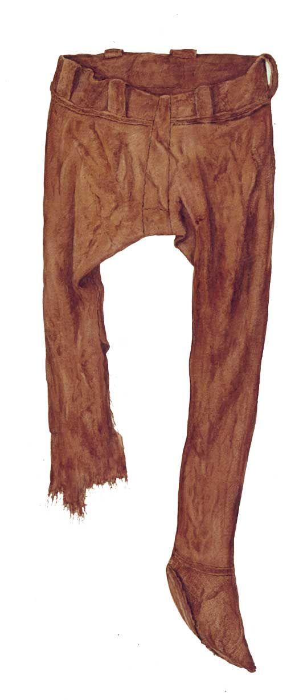 Dragter i tekstil fra ældre jernalder.  Nederdele. Der er bevaret en hel nederdel i Huldremose I fundet fra Djursland i Østjylland, mens en knap så komplet nederdel er fundet blandt tekstilerne fra Krogens Mølle Mose nær Brovst i Vendsyssel i Nordjylland. Nederdelene blev fremstillet som færdige dragter direkte på væven, og der var kun brug for en meget begrænset montering, efter stoffet var taget af væven. Nederdelen fra Huldremose var forsynet med et vævet bånd i taljen, hvor der var…