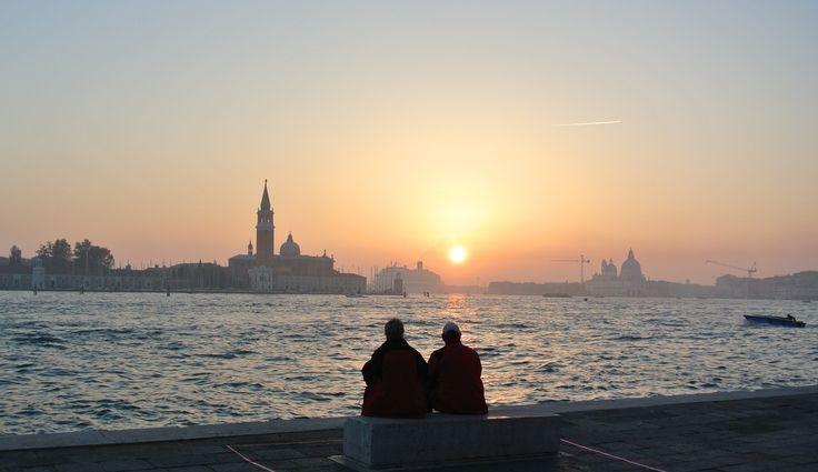 Sunset in Venice Italy - Zonsondergang in de lagune van Venetie