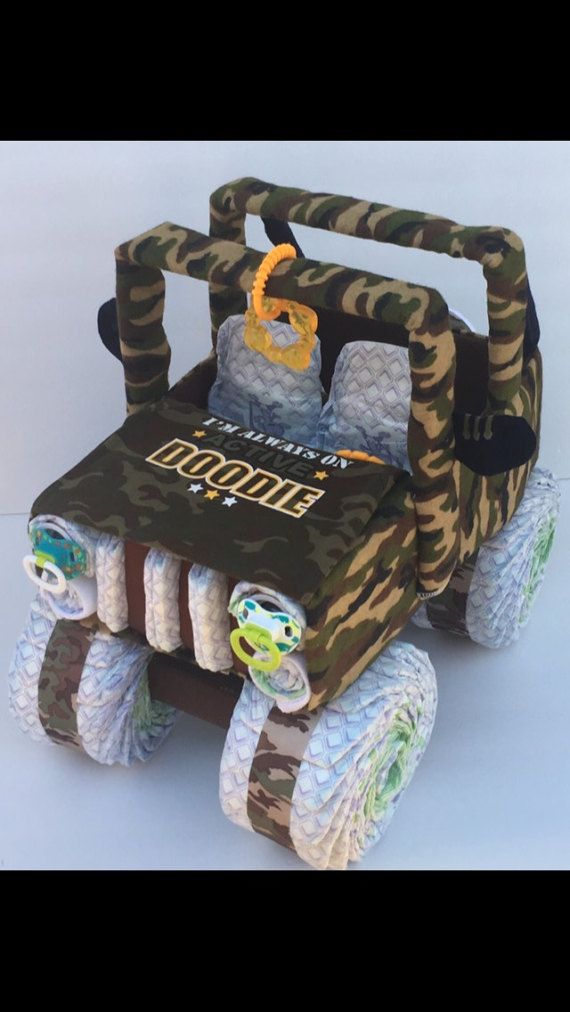 Check out this item in my Etsy shop https://www.etsy.com/listing/499664738/army-jeep-army-baby-camo-baby-shower