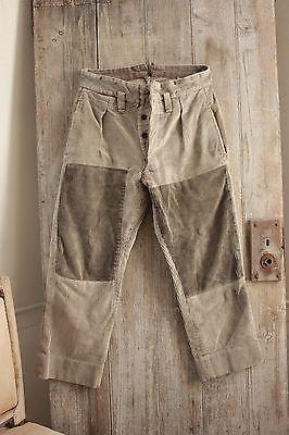 Vintage / antique Corduroy HEAVY pants trousers work / chore wear c1900
