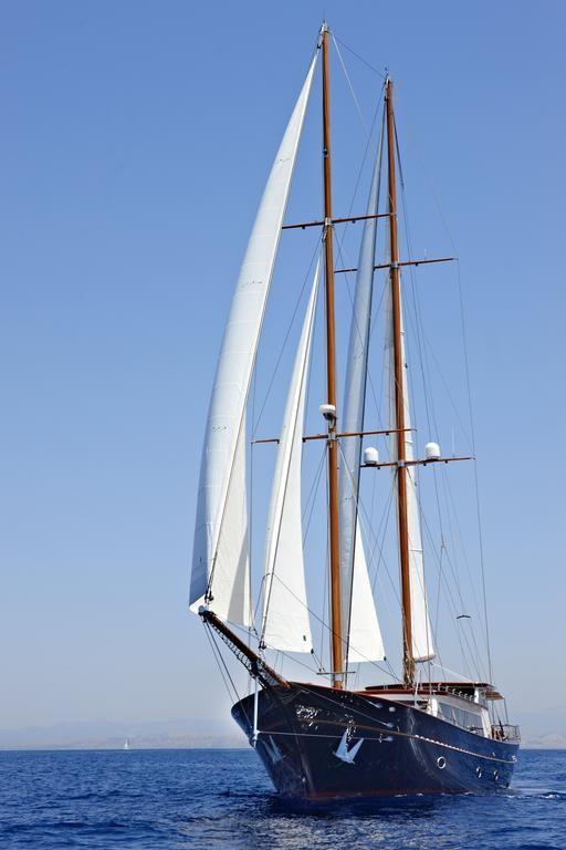 Luxury IRAKLIS L - Motor sailer Check more at https://eastmedyachting.co.uk/yachts/iraklis-l-motor-sailer/