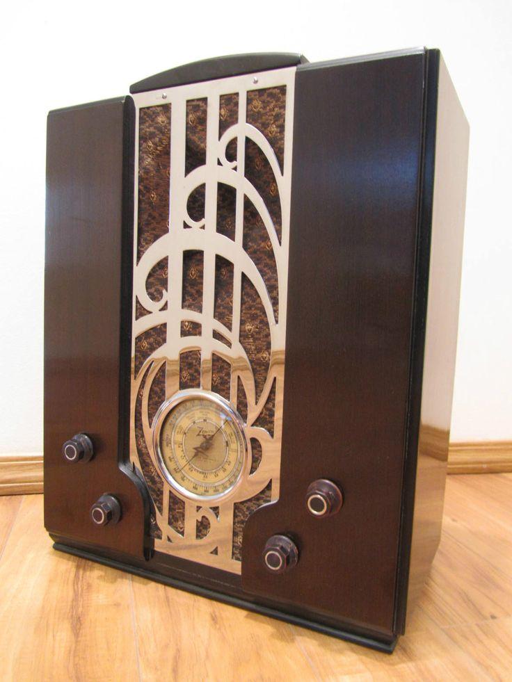 Vintage 1930s Old Zenith Art Deco Machine Age Depression Era Chrome Tube Radio | eBay