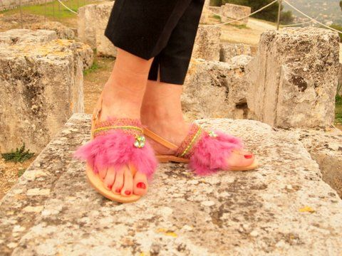 """On a 🌸S P R I N G🌸 W E E K E ND  m👀d, our """"DELILAH"""" feather sandals are ready to travel all around the world🌎🌍🌏 Visit www.sibylladelphica.com to shop our collection🌺"""