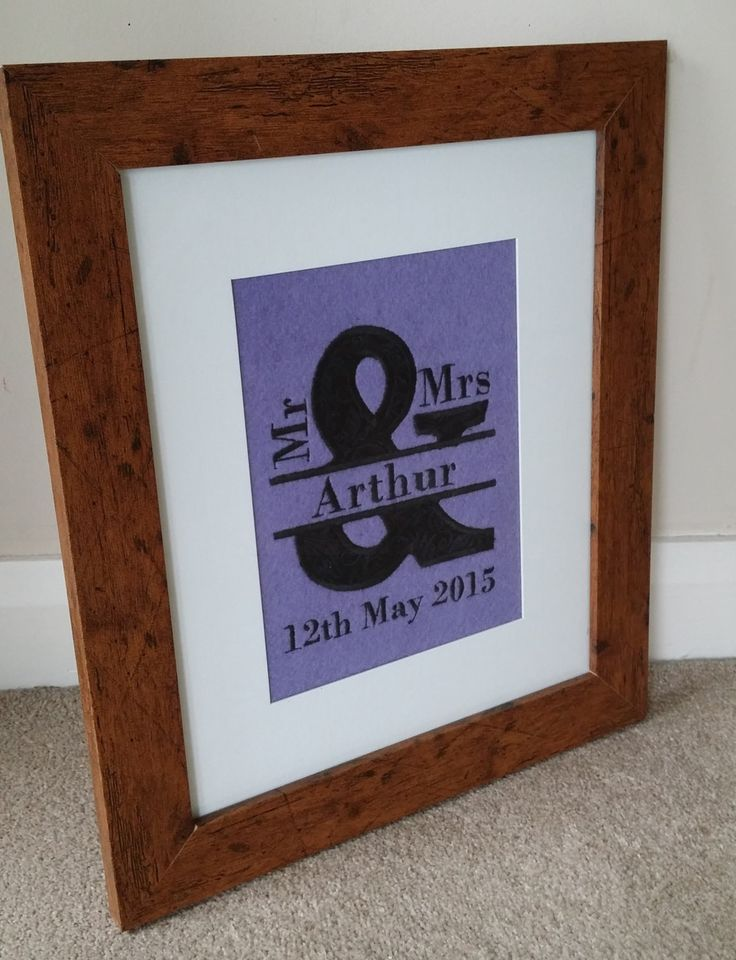 Mr and Mr Personalised Decorative Artwork Wedding Present by MadeByMAP on Etsy