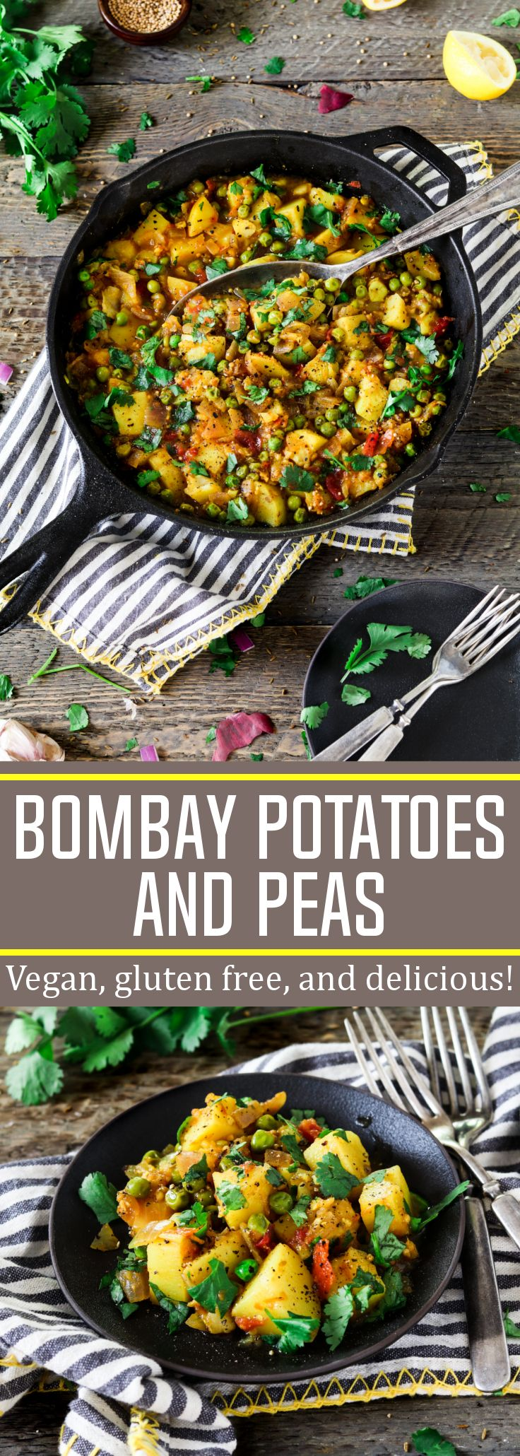 These Bombay Potatoes and Peas are warm-spiced, savory and total comfort on a plate! #vegan #glutenfree via @veganhuggs
