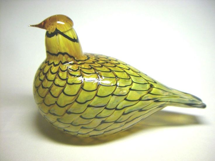 Oiva Toikka - Summer Grouse - Art Glass Bird Finland - Iittala