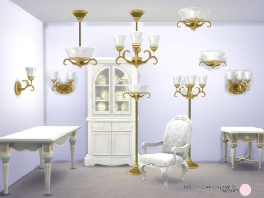 172 best sims 4 lamps lights images on pinterest lighting classic ceiling floor and wall lamp set modern and contemporary metal and glass lighting meshes by dot of the sims resource found in tsr category sims aloadofball Images