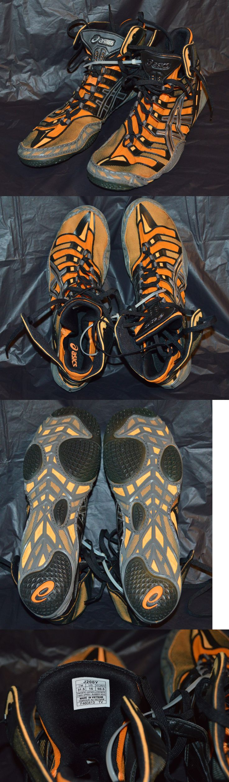 Footwear 79799: Asics Omniflex Pursuit Wrestling Shoes Orange/Silver/Black New Mens Size 15 BUY IT NOW ONLY: $135.95