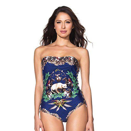 Agua Bendita Swimwear Bendito Conifero Dark Blue Colombian Swimsuit Multi S -- Want additional info? Click on the affiliate link Amazon.com on image.