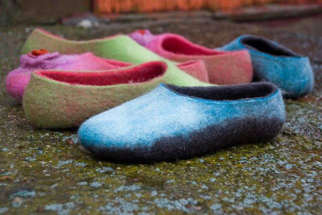 Bure bure veltiniai. Felted wool slippers
