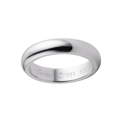 His Cartier Wedding Band In Platinum