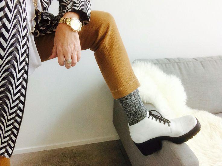 Teamed with Karen Walker pants and Witchery socks