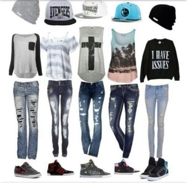 Sk8r edgy outfits