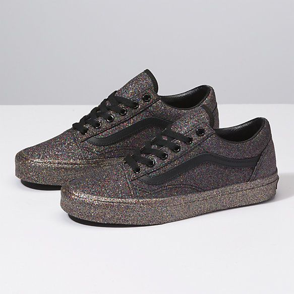 0e93f0384edcd6 Rainbow Glitter Old Skool