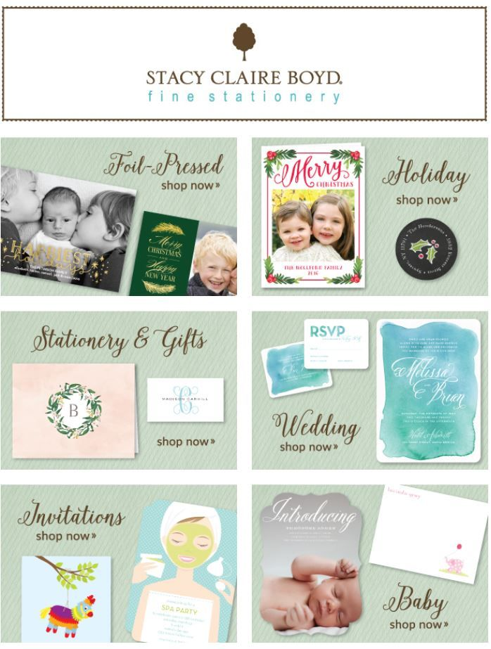 Stacy Claire Boyd Fine Stationery | Stationery | Baby Announcements | Invitations | Holiday Cards | Wedding